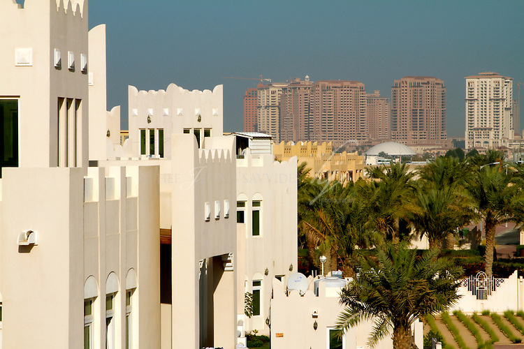 Various shapes and sizes, view from the roof top, West Bay Lagoon, Doha, Qatar | Mar 10