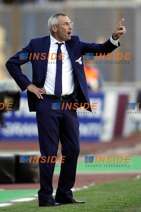 Edy Reja, allenatore della Lazio..Catania, 18/03/2012 .Football Calcio 2011/2012 .Catania vs Lazio 1-0.Campionato di calcio Serie A.
