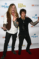 HOLLYWOOD, CA - NOVEMBER 8: Sebastian Bach, Billy Morrison at the Pop-Up Art Show by Billy Morrison and Steve Stevens at Ken Paves Salon in West Hollywood, California on November 8, 2019. Credit: David Edwards/MediaPunch