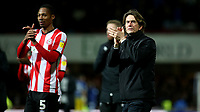 Brentford Head Coach, Thomas Frank applauds the home fans at the end of the match during Brentford vs Leeds United, Sky Bet EFL Championship Football at Griffin Park on 11th February 2020