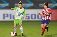 Atletico de Madrid's Marta Corredera (r) and VfL Wolfsburg's Vanessa Bernauer during UEFA Womens Champions League 2017/2018, 1/16 Final, 1st match. October 4,2017. (ALTERPHOTOS/Acero) /NortePhoto.com /NortePhoto.com