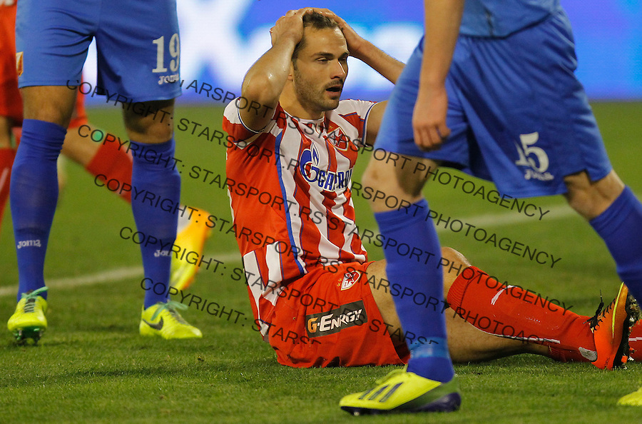Fudbal Kup Srbije season 2013-2014<br /> Crvena Zvezda v Vojvodina<br /> Goran Gogic reacts<br /> Beograd, 04.12.2013.<br /> foto: Srdjan Stevanovic/Starsportphoto &copy;