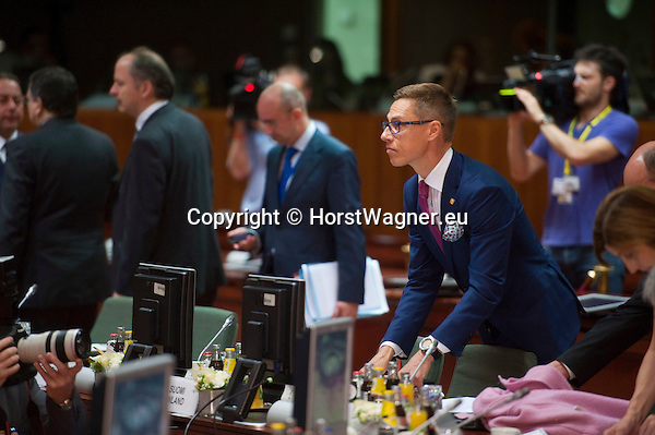 Brussels-Belgium - June 27, 2014 -- European Council, EU-summit, meeting of Heads of State / Government; here, Alexander STUBB, Prime Minister of Finland, attending an EU-summit for the first time -- Photo: © HorstWagner.eu