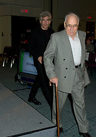 October2nd, 2000 File Photo of<br /> The founder of SAM THE RECORDMAN music chain ; Sam Sniderman, and his son (behind).<br /> <br /> The 50 year old Canadian  chain filed today(october 30th, 2001) for protection from it's creditors and is expecting bankrupcymainly  because of competition from chains suchs as HMV and also because of MP3.<br /> <br /> Photo by Pierre Roussel / I Photo