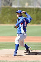 Su-Min Jung, Chicago Cubs minor league spring training..Photo by:  Bill Mitchell/Four Seam Images.
