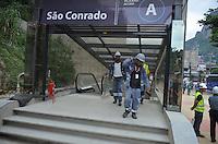 RIO DE JANEIRO,RJ, 07.03.2016 - METRO-RJ - O presidente licenciado do PSD e ministro das Cidades, o ex-prefeito de São Paulo Gilberto Kassab, e o governador do Rio de Janeiro, Luiz Fernando Pezão, visitam as obras do Veículo Leve sobre Trilhos e da Linha 4 do metrô do Rio, em São Conrado, nesta segunda-feira. (Foto: Beto Ohana/Brazil Photo Press)