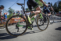 Riejanne Markus (NED/WaowDeals Pro Cycling Team) up the Mur de Huy. <br /> <br /> 21st La Fl&egrave;che Wallonne Femmes <br /> 1 day race: Huy - Huy (118,5KM)