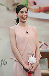 """October 6, 2016, Tokyo, Japan - Japanese actress Maiko smiles at the promotional event of the """"Taste of Tokyo"""" in Tokyo on Thursday, October 6, 2016. The Taste of Tokyo is an gastronomy event using Tokyo's agriculture products at Marunouchi area through October 9.   (Photo by Yoshio Tsunoda/AFLO) LWX -ytd-"""