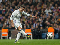 Real Madrid´s Portuguese forward Cristiano Ronaldo in action during the UEFA Champions League match between Real Madrid and Borussia Dortmund at the Santiago Bernabeu Stadium in Madrid, Tuesday, December 7, 2016.
