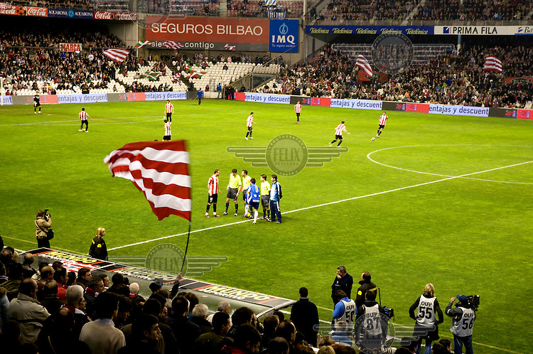 Match between Athletic de Bilbao and Espanyol, at the San Memes stadium.