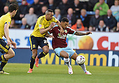 19/04/2016 Sky Bet League Championship  Burnley v Middlesbrough<br /> Andre Gray shields the ball from Emilio Nsue
