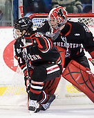 Steve Silva (Northeastern - 17), Chris Rawlings (Northeastern - 37) - The visiting Northeastern University Huskies defeated the University of Massachusetts-Lowell River Hawks 3-2 with 14 seconds remaining in overtime on Friday, February 11, 2011, at Tsongas Arena in Lowelll, Massachusetts.