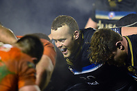 Michael van Vuuren of Bath Rugby in action at a scrum. European Rugby Champions Cup match, between Benetton Rugby and Bath Rugby on January 20, 2018 at the Municipal Stadium of Monigo in Treviso, Italy. Photo by: Patrick Khachfe / Onside Images