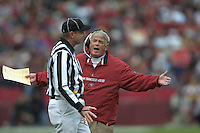 Coach Dennis Erickson. Football: St. Louis Rams vs. San Francisco 49ers game played at Candlestick Park in San Francisco, California. November 2, 2003. Photo by Brad Mangin.