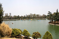 Rental boats on the Lago Mayor in the Second Section of Chapultepec Park, Mexico City