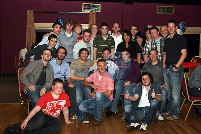 Eoghan Khan with friends at his 21st in The star and Crescent...Picture Jenny Matthews/Newsfile.ie