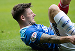 St Johnstone v Aberdeen&hellip;15.09.18&hellip;   McDiarmid Park     SPFL<br />Matty Kennedy takes a sore one<br />Picture by Graeme Hart. <br />Copyright Perthshire Picture Agency<br />Tel: 01738 623350  Mobile: 07990 594431