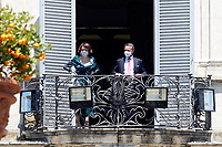 Minister of the Family Elena Bonetti at the balcony of Villa Pamphilj, where the Italian Premier convened the States General of Economy. The summit was strictly behind closed doors and the press was kept outside. Rome (Italy), June 13th 2020<br /> Samantha Zucchi Insidefoto