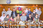 Enjoying her 40th birthday was Liz Gould from Kilmorna, pictured here celebrating with family and friends last Saturday night in Leen's Hotel, Abbeyfeale. F l-r: Dan, Helen and Kerri Ann Casey, Liz Gould, Donnie Lyons, Noreen Gould, Mary O'Sullivan. B l-r: Eamon Dowling, Jim, Tony, Dana, Steven and Ned Gould, Angela Kelly, Denis Gould and Jerimiah Kelly.