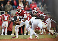 NWA Democrat-Gazette/CHARLIE KAIJO  Saturday, November 2, 2019 during the fourth quarter of a football game at Donald W. Reynolds Razorback Stadium in Fayetteville. Visit nwadg.com/photos to see more photographs from the game.