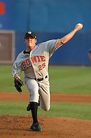 August 18, 2005:  Pitcher Kurt Birkins of the Bowie BaySox during a game at Metro Bank Park in Harrisburg, PA.  Bowie is the Eastern League Double-A affiliate of the Baltimore Orioles.  Photo by:  Mike Janes/Four Seam Images
