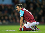 West Ham's Mauro Zarate looks on dejected at the final whistle<br /> <br /> Barclays Premier League - West Ham United v Stoke City - Upton Park - England -12th December 2015 - Picture David Klein/Sportimage
