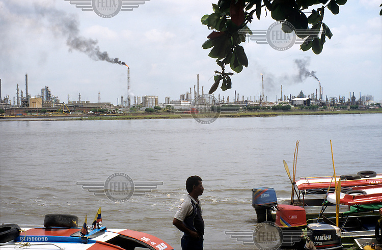 The Ecopetrol petrol and oil refinery (the largest in the country) in the city of Barancabermeja on the Magdalena River.