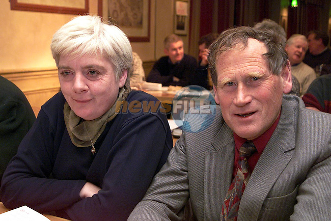Rosemary Coyle and Michael Matthews from the Oliver Plunketts at the Louth GAA convention in the Fairways Hotel..Picture Paul Mohan Newsfile