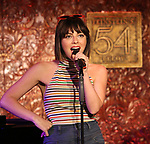 "Krysta Rodriguez from the cast of ""The Jonathan Larson Project"" during the press preview on October 3, 2018 at Feinstein's/54 Below in New York City."