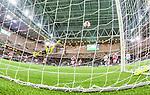 Stockholm 2015-03-01 Fotboll Svenska Cupen Hammarby IF - Landskrona BoIS :  <br /> Hammarbys Amadayia Rennie g&ouml;r 1-1 bakom Landskronas m&aring;lvakt Jonas Sandqvist under matchen mellan Hammarby IF och Landskrona BoIS <br /> (Foto: Kenta J&ouml;nsson) Nyckelord:  Fotboll Svenska Cupen Cup Tele2 Arena Hammarby HIF Bajen Landskrona BOIS jubel gl&auml;dje lycka glad happy remote remotekamera