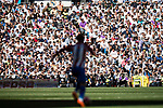 Antoine Griezmann of Atletico de Madrid in action during their La Liga match between Real Madrid and Atletico de Madrid at the Santiago Bernabeu Stadium on 08 April 2017 in Madrid, Spain. Photo by Diego Gonzalez Souto / Power Sport Images