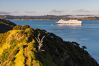 Queen Elizabeth, a Cunard Cruise Shop in the Bay of Islands at Russell, Northland Region, North Island, New Zealand