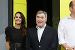 Eddy Merckx on the podium for the prize giving at the end of Stage 1 of the 2019 Tour de France running 194.5km from Brussels to Brussels, Belgium. 6th July 2019.<br /> Picture: Colin Flockton | Cyclefile<br /> All photos usage must carry mandatory copyright credit (© Cyclefile | Colin Flockton)