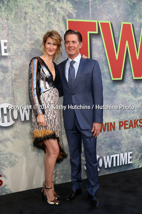 "LOS ANGELES - MAY 19:  Laura Dern, Kyle MacLachlan at the ""Twin Peaks"" Premiere Screening at The Theater at Ace Hotel on May 19, 2017 in Los Angeles, CA"