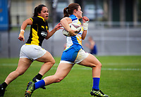 Action from the women's match between Bay Of Plenty and Wellington on day two of the 2018 Bayleys National Sevens at Rotorua International Stadium in Rotorua, New Zealand on Sunday, 14 January 2018. Photo: Dave Lintott / lintottphoto.co.nz