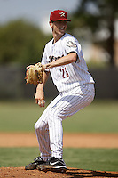 July 11, 2009:  Pitcher Tanner Buschue of the GCL Astros delivers a pitch during a game at Osceola County Complex in Kissimmee, FL.  Buschue was taken in the second (2nd) round of the 2009 MLB draft.  The GCL Astros are the Gulf Coast Rookie League affiliate of the Houston Astros.  Photo By Mike Janes/Four Seam Images