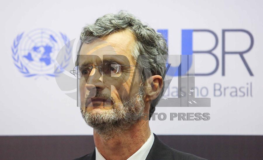 SAO PAULO, SP, 09 DE MAIO 2013 - INAUGURAÇÃO ESCRITORIO DA ONU EM SAO PAULO - Georg Kell, Diretor executivo global da ONU durante solenidade de inauguração do escritório da ONU (Organização das Nações Unidas ) em São Paulo no centro da cidade de Sao Paulo nesta quinta-feira, 09. FOTO: VANESSA CARVALHO - BRAZIL PHOTO PRESS