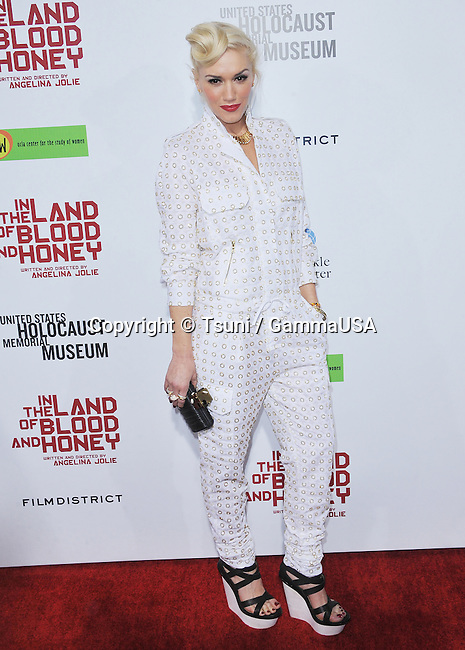 Gwen Stefani  at In The Land of Blood and Honey Premiere at the Arclight Theatre In Los Angeles.