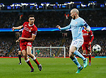 Manchester City's David Silva tussles with Liverpool's Trent Alexander-Arnold during the Champions League Quarter Final 2nd Leg match at the Etihad Stadium, Manchester. Picture date: 10th April 2018. Picture credit should read: David Klein/Sportimage