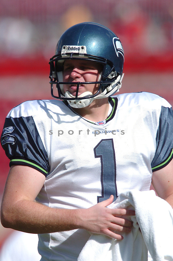 RYAN PLACKEMEIER, of the Seattle Seahawks, during their game  against the Tampa Bay Buccaneers on December 31, 2006 in Tampa Bay, FL...Seattle wins 23-7...TOMASSO DEROSA/ SPORTPICS
