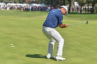 Shubhankar Sharma (IND) reacts to barely missing his birdie attempt on 9 during round 4 of the World Golf Championships, Mexico, Club De Golf Chapultepec, Mexico City, Mexico. 3/4/2018.<br /> Picture: Golffile | Ken Murray<br /> <br /> <br /> All photo usage must carry mandatory copyright credit (© Golffile | Ken Murray)