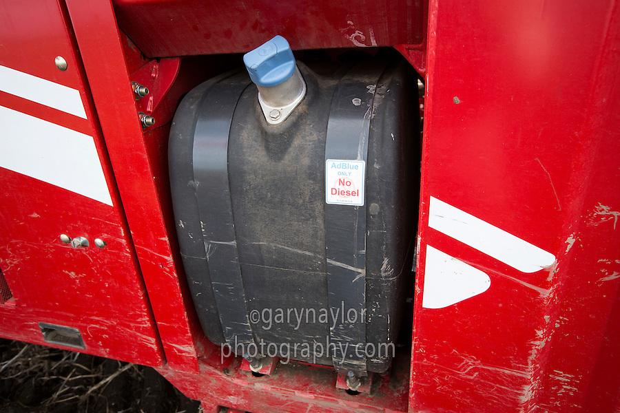AdBlue tank on Grimme Varitron 220