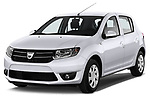 Front three quarter view of a 2013 Dacia Sandero Laureate Hatchback