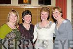 WONDERFUL: Mairead Easmonde, Doreen Lynch, Helen Rohan and Deirdre Morris, Killorglin having a wonderful evening in the Bianconi Restaurant, Killorglin on New Years Eve.   Copyright Kerry's Eye 2008