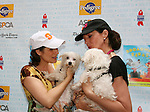 "Stephanie Block and Guiding Light's Allison Janney at Broadway Barks 11 - a ""Pawpular"" star-studded dog and cat adopt-a-thon on July 11, 2009 in Shubert Alley, New York City, NY. (Photo by Sue Coflin/Max Photos)"