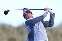 Daniel Ford (Co. Sligo) on the 11th tee during Round 3 of the Ulster Boys Championship at Portrush Golf Club, Portrush, Co. Antrim on the Valley course on Thursday 1st Nov 2018.<br /> Picture:  Thos Caffrey / www.golffile.ie<br /> <br /> All photo usage must carry mandatory copyright credit (&copy; Golffile | Thos Caffrey)