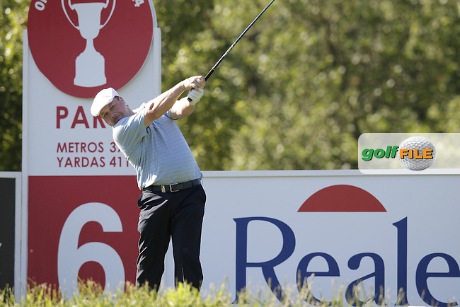 Chris Doak (SCO) tees off the 6th tee during Friday's Round 2 of the 2014 Open de Espana held at the PGA Catalunya Resort, Girona, Spain. Wednesday 16th May 2014.<br /> Picture: Eoin Clarke www.golffile.ie