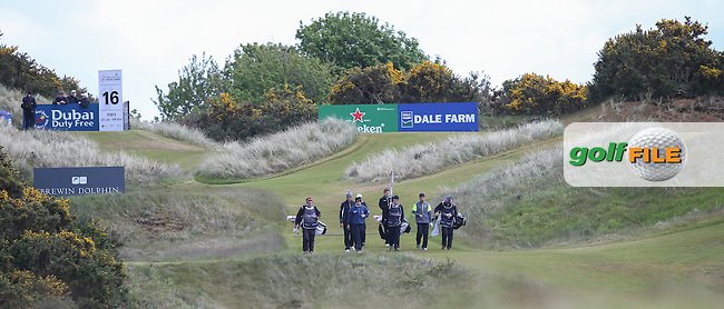 View of the 16th  green during Round Two of the 2015 Dubai Duty Free Irish Open Hosted by The Rory Foundation at Royal County Down Golf Club, Newcastle County Down, Northern Ireland. 29/05/2015. Picture David Lloyd | www.golffile.ie