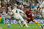Real Madrid's Sergio Ramos and AS Roma's Robin Olsen during Champions League match. September 19, 2018. (ALTERPHOTOS/A. Perez Meca)