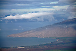 View from Mt. Haleakala of Maui's new wind farm on the northern part of the island.